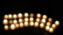 Clandles - Flame - Fire - Candles In The Dark - Light - Religious - Prayer 12 - stock footage