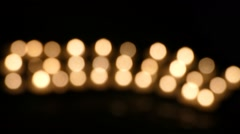 Clandles - Flame - Fire - Candles In The Dark - Light - Religious - Prayer 13 Stock Footage