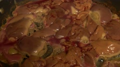 Cooking Raw Meat - stock footage
