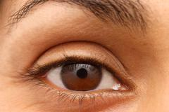 Eye of an Indian woman - stock photo
