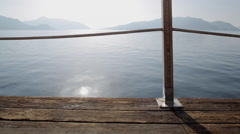 Aegean Sea view & Boardwalk, Marmaris, Anatolia, Turkey Stock Footage