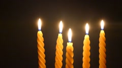 Clandles - Flame - Fire - Candles In The Dark - Light - Religious - Prayer 42 - stock footage