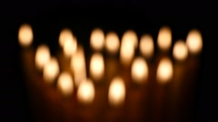 Clandles - Flame - Fire - Candles In The Dark - Light - Religious - Prayer 56 Stock Footage
