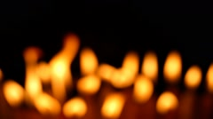 Clandles - Flame - Fire - Candles In The Dark - Light - Religious - Prayer 53 - stock footage