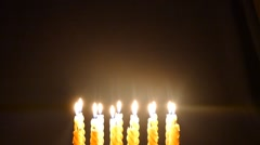 Clandles - Flame - Fire - Candles In The Dark - Light - Religious - Prayer 60 - stock footage