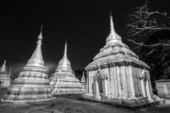 Ancient buddhist temple, Pindaya, Burma, Myanmar. Stock Photos