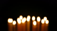 Clandles - Flame - Fire - Candles In The Dark - Light - Religious - Prayer 74 - stock footage