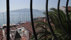 Stock Video Footage of View over Harbour and Rooftops, Marmaris, Anatolia, Turkey