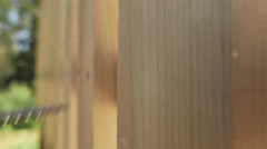 Screw goes into Wooden Board, using screw driver Stock Footage