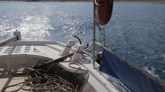 Taxi Boat from Marmaris to Icmeler, Marmaris, Anatolia, Turkey - stock footage