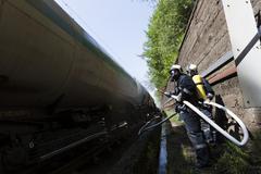 Tanker train fire extinguishing Kuvituskuvat