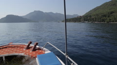 Stock Video Footage of Boat Trip from Marmaris to Icmeler, Marmaris, Anatolia, Turkey