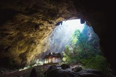 Phraya Nakhon Cave is the most popular pavilion at Prachuap, Thailand - stock photo
