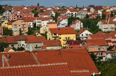Roofs of a suburb. Stock Photos