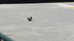 Stock Video Footage of French Petanque - Bowling - Old Bowling- Petanque Ball - Metal Ball 19