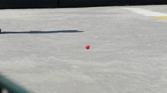 Stock Video Footage of French Petanque - Bowling - Old Bowling- Petanque Ball - Metal Ball 18