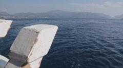 Boat Trip from Marmaris to Icmeler, Marmaris, Anatolia, Turkey Stock Footage