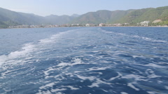 Boat Trip from Marmaris to Icmeler, Marmaris, Anatolia, Turkey Stock Footage