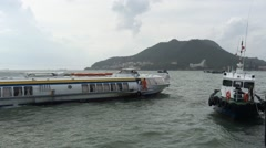 Hydrofoil in Vungtau from HCMC Stock Footage