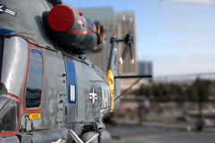 USS Midway - Seasprite Helicopter - stock photo
