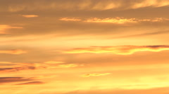 Detail of golden sunset clouds. Fast Time lapse. - stock footage