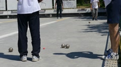 French Petanque - Bowling - Old Bowling- Petanque Ball - Metal Ball 60 Stock Footage