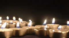 Clandles - Flame - Fire - Candles In The Dark - Light - Religious - Prayer 1. - stock footage