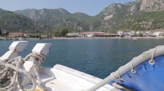 Boat Trip from Icmeler to Turunc, Marmaris, Anatolia, Turkey - stock footage