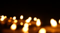 Clandles - Flame - Fire - Candles In The Dark - Light - Religious - Prayer  - stock footage