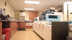 Pan of Blood lab Stock Footage