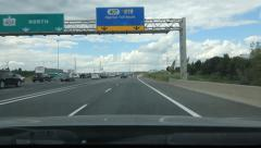 Entering 407 toll highway in Toronto. - stock footage