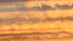Detail of orange and sunset clouds. Mellow Time lapse. Stock Footage