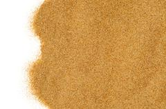 sand on a white background - stock photo