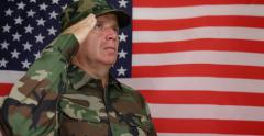 United States Windy Flag Active Military Salute Honor Concept Independence Day Stock Footage