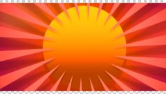 Sun wheel  moving motion graphic  orange yellow 3 d Stock Footage