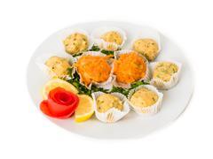 Potato Veggie Balls Salad - stock photo