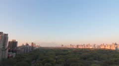 High Angle Central Park from 5th Avenue to Central Park West NYC Stock Footage