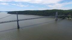 Aerial MidHudson Bridge Pond5 4K 3 Stock Footage