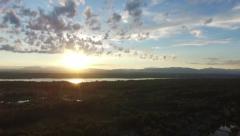 Sunset over Hudson River Stock Footage
