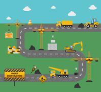 Road Construction Concept Stock Illustration