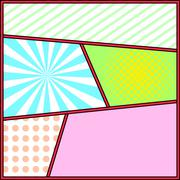 Pop art frame comics background page template Stock Illustration