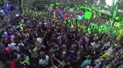 Massive Music Festival Crowd Shot Stock Footage