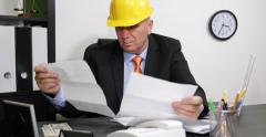 Angry Engineer Financial Pressure Payment Documents Calculations Many Invoices Stock Footage