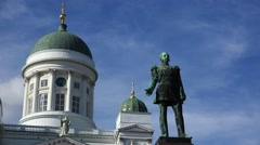 Monument to Alexander II in Helsinki. 4K. Stock Footage