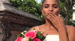 Bride Kissing Stock Footage
