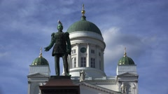Monument to Alexander II in Helsinki. 4K. Stock Footage