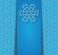 Stock Illustration of Blue background with abstract snowflakes