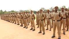 Indian Police Training centre Stock Footage