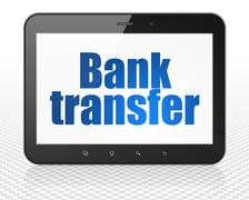 Money concept: Bank Transfer on Tablet Pc Computer display Stock Illustration