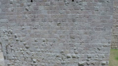 Part of the wall surrounding the Old City in Jerusalem, Israel. Stock Footage